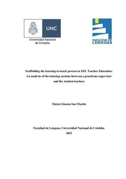 Scaffolding the learning-to-teach process in EFL Teacher