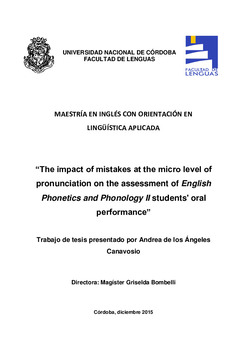The impact of mistakes at the micro level of pronunciation